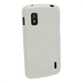 LG Nexus 4G E960 iGadgitz TPU-Kotelo Kiiltävä Valkoinen