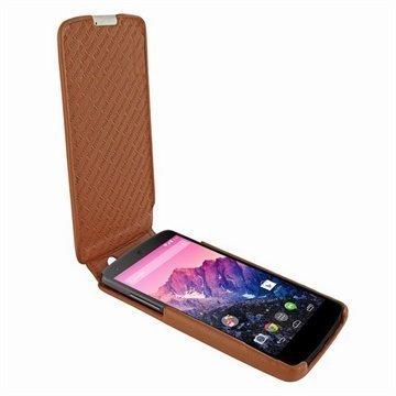 LG Nexus 5 Piel Frama Imagnum Nahkakotelo Ruskea