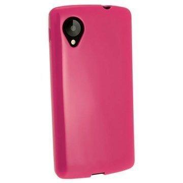 LG Nexus 5 iGadgitz Crystal TPU-Kotelo Pinkki