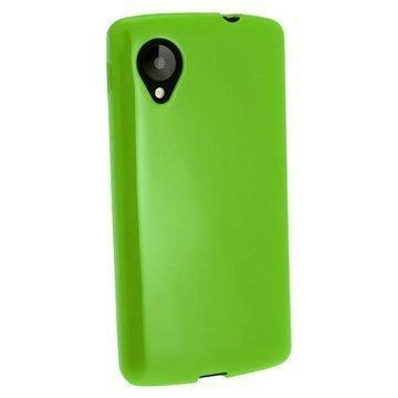 LG Nexus 5 iGadgitz Crystal TPU-Kotelo Vihreä