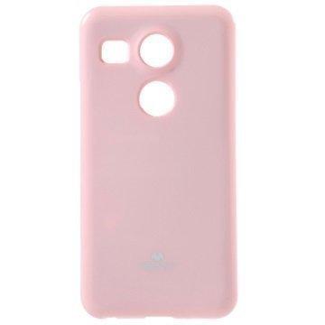 LG Nexus 5X Mercury Goospery TPU Kotelo Pinkki