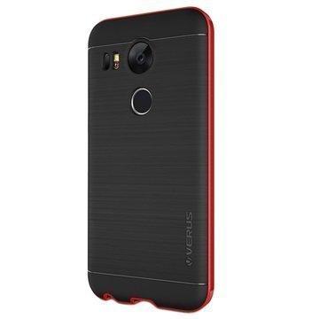 LG Nexus 5X VRS Design High Pro Shield Series Kotelo Karmiininpunainen