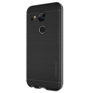 LG Nexus 5X Verus High Pro Shield Series Kotelo Teräksisen Hopea