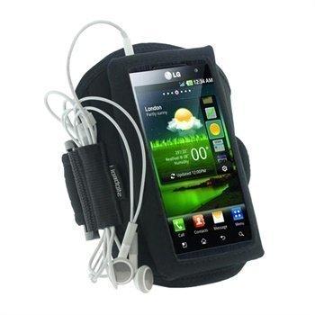 LG Optimus 3D P920 iGadgitz Neoprene Armband Black