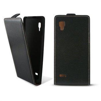LG Optimus L9 P760 Ksix Nahkainen Läppäkotelo Musta