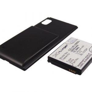 LG Optimus LTE II Optimus LTE 2 F160L F160K Tehoakku Laajennetulla mustalla takakannella 2800 mAh