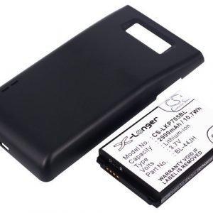 LG Optimus P705 Optimus P705g Tehoakku Laajennetulla mustalla takakannella 2900 mAh