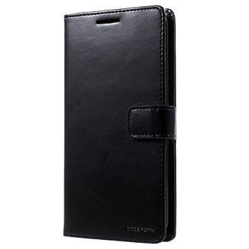 LG V10 Mercury Goospery Blue Moon Diary Lompakkokotelo Musta