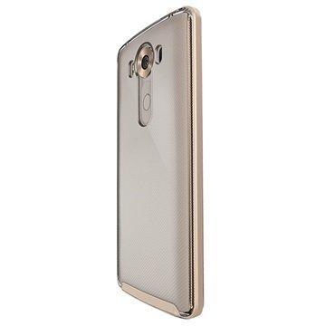 LG V10 VRS Design Crystal Bumper Series Kotelo Hohtava Kulta