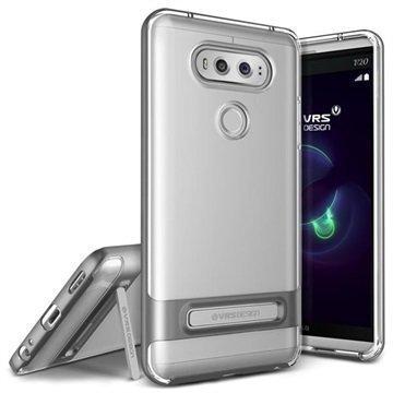 "LG V20 VRS Design Crystal Bumper suojakuori â"" Tumma Hopea"