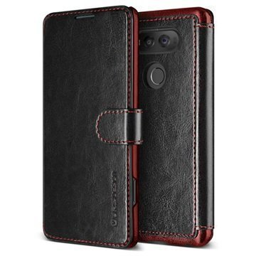 "LG V20 VRS Design Dandy Layered lompakkokotelo â"" Musta/Viininpunainen"