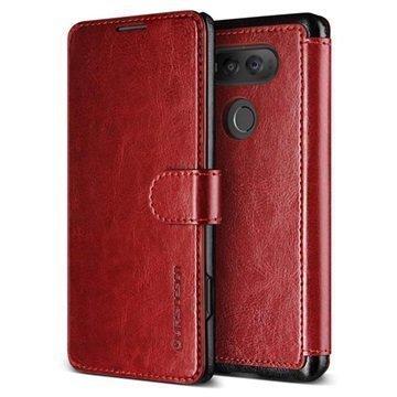"LG V20 VRS Design Dandy Layered lompakkokotelo â"" Viininpunainen/Musta"