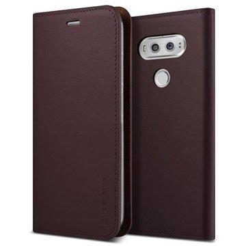 LG V20 VRS Design Diary Nahkalompakko Kotelo Viininpunainen