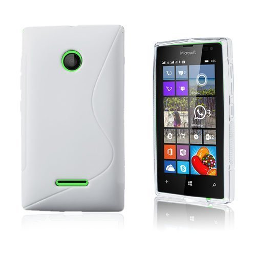 Lagerlöf Microsoft Lumia 435 Suojakuori Valkoinen