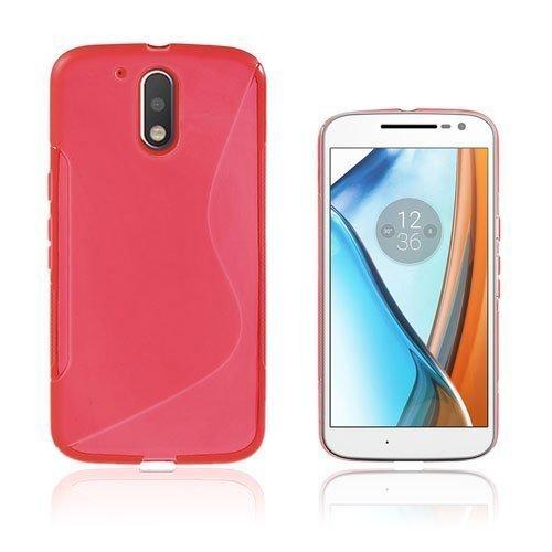 Lagerlöf Motorola Moto G4 / G4 Plus Takakuori Punainen