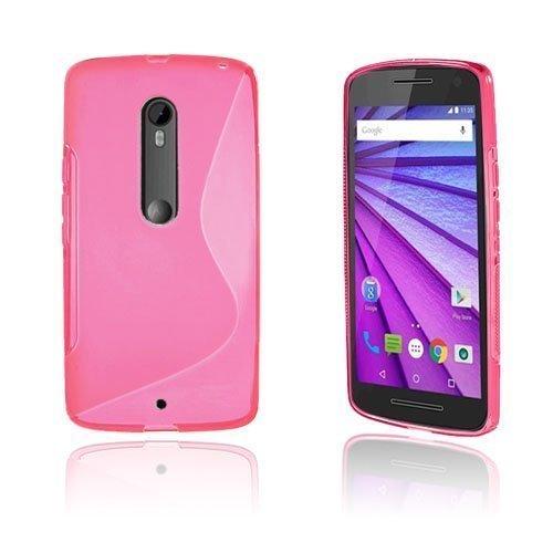 Lagerlöf Motorola Moto X Play Kuori Kuuma Pinkki