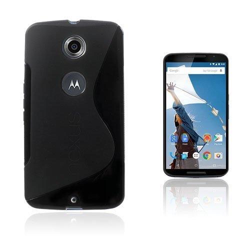 Lagerlöf Musta Motorola Nexus 6 Suojakuori