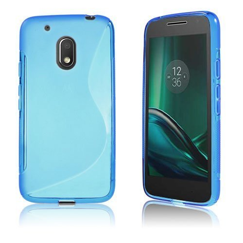 Lagerlöf Pehmeä Tpu Geeli Takakuori Motorola Moto G4 Play Puhelimelle Sininen