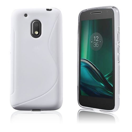 Lagerlöf Pehmeä Tpu Geeli Takakuori Motorola Moto G4 Play Puhelimelle Valkoinen