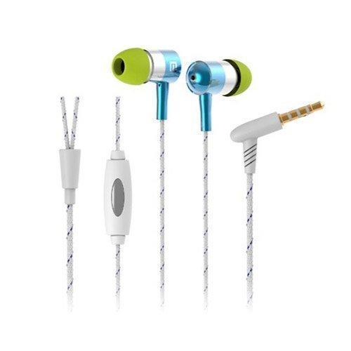 Langston I-1 Valkoinen / Sininen Kudos Kuvio Kuulokkeet Mikrofonilla