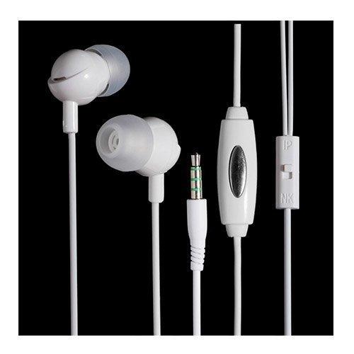 Langston In-3 Universaali Korvanappikuulokkeet Mikrofonilla Valkoinen