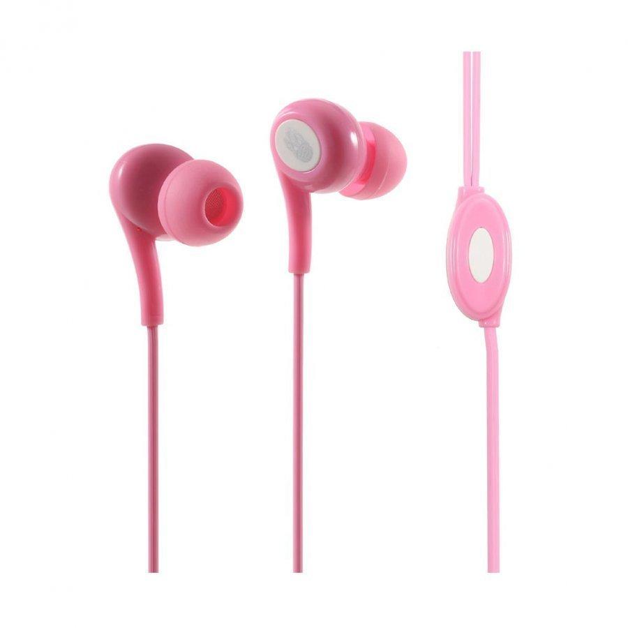 Langston Jd-91 Korvanappikuuloke Mikrofonilla Älypuhelimille Pinkki