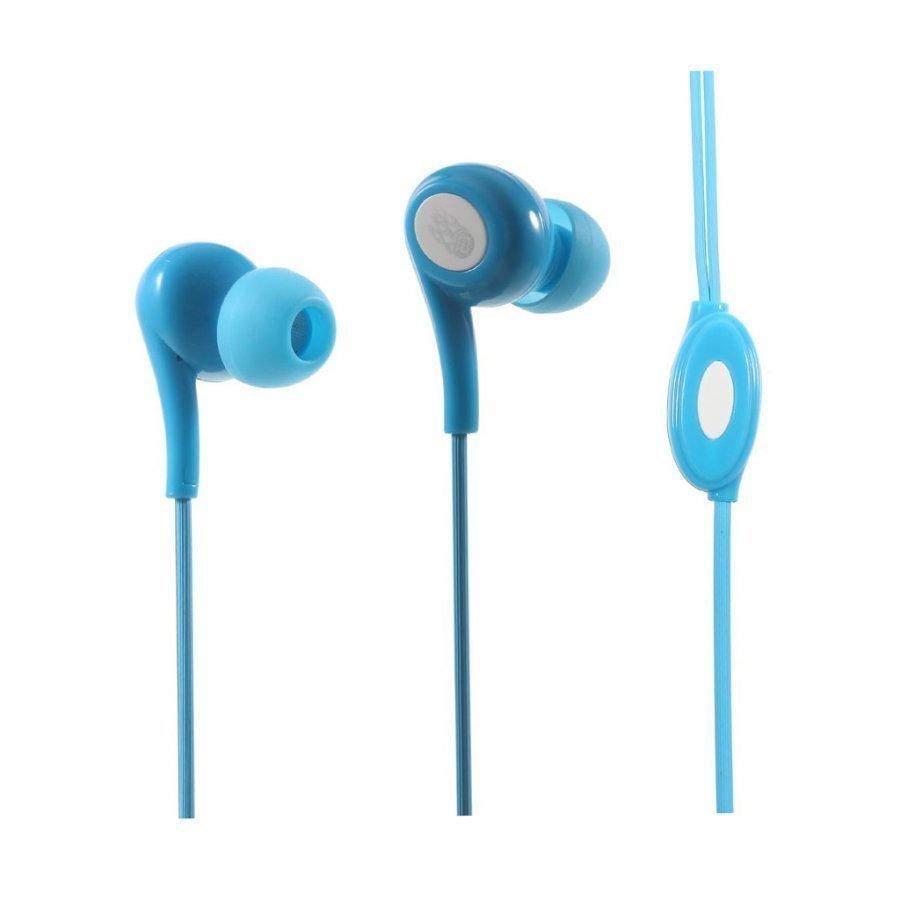 Langston Jd-91 Korvanappikuuloke Mikrofonilla Älypuhelimille Sininen