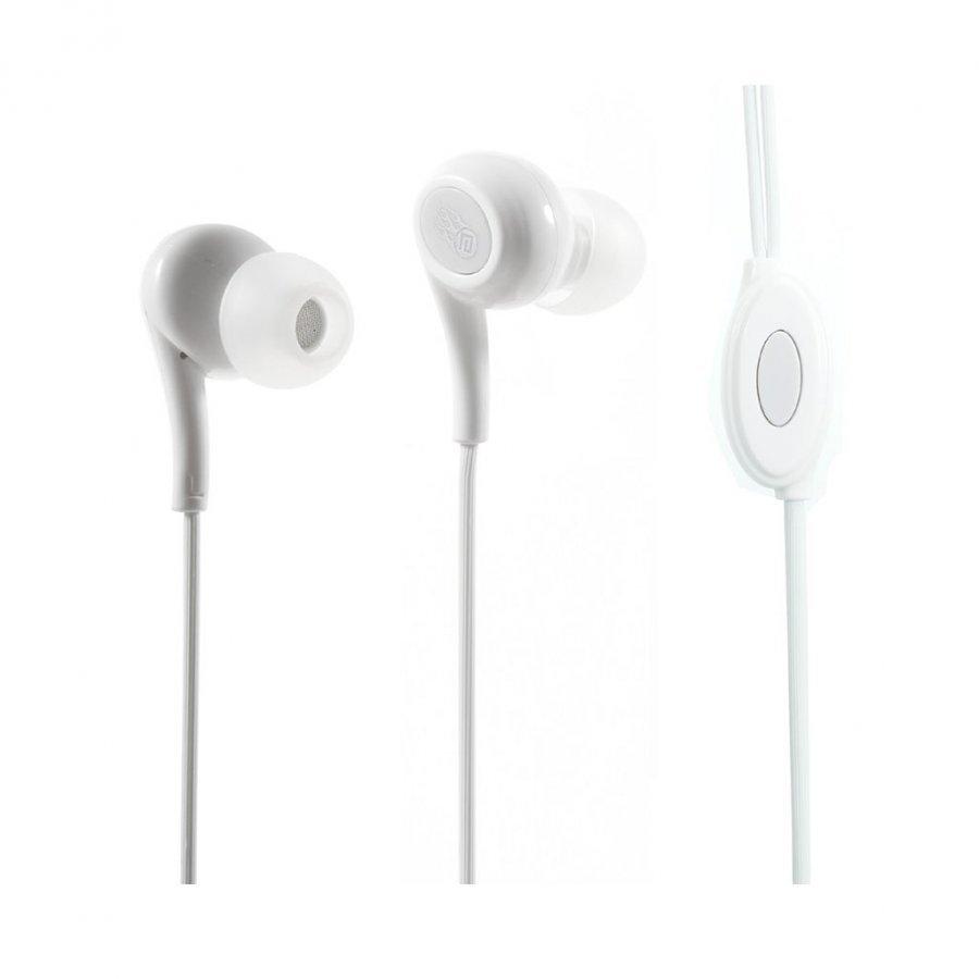 Langston Jd-91 Korvanappikuuloke Mikrofonilla Älypuhelimille Valkoinen
