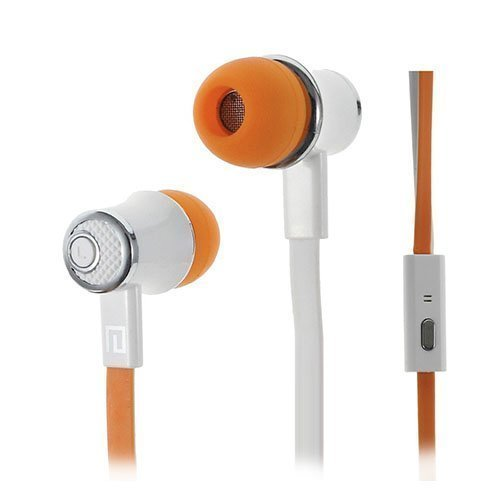 Langston Jm21 Nappikuulokkeet Mikrofonilla Älypuhelimille Oranssi