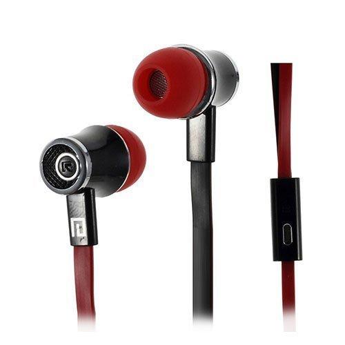 Langston Jm21 Nappikuulokkeet Mikrofonilla Älypuhelimille Punainen & Musta