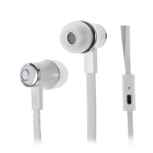 Langston Jm21 Nappikuulokkeet Mikrofonilla Älypuhelimille Valkoinen