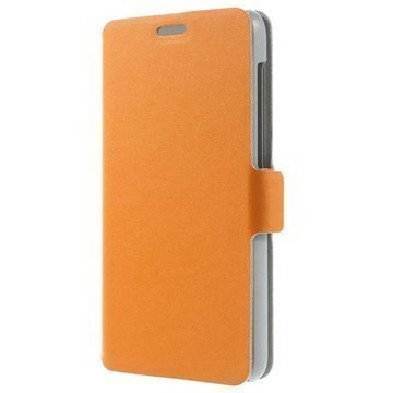Lenovo S850 Doormoon Wallet Nahkakotelo Oranssi