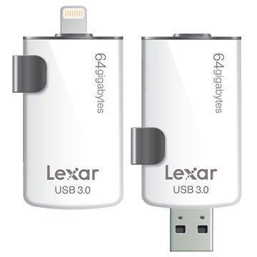 Lexar JumpDrive M20i Lightning / USB 3.0 Muistitikku 64Gt