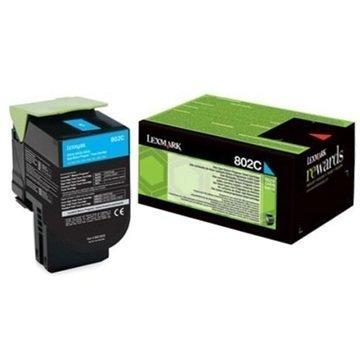 Lexmark 802C Värikasetti 80C20C0 Syaani