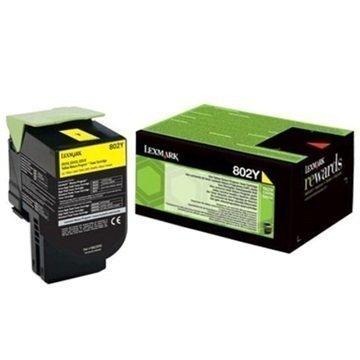 Lexmark 802Y Värikasetti 80C20Y0 Keltainen