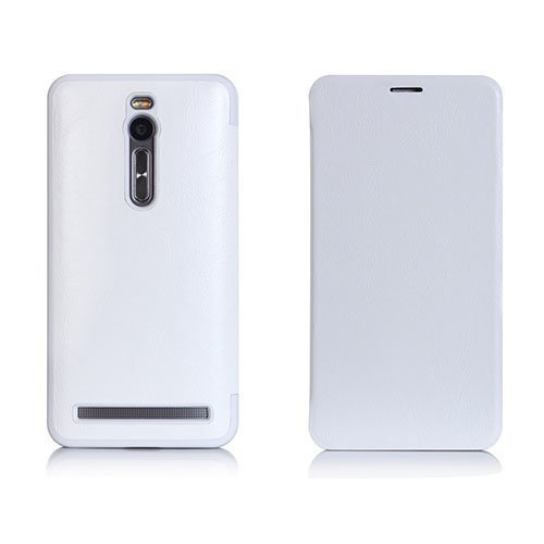 Loe Asus Zenfone 2 Kääntö Nahkakotelo Valkoinen