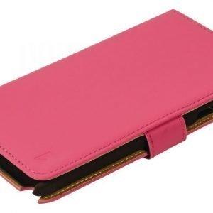 Lompakkokotelo Galaxy Note 4 vaaleanpunainen