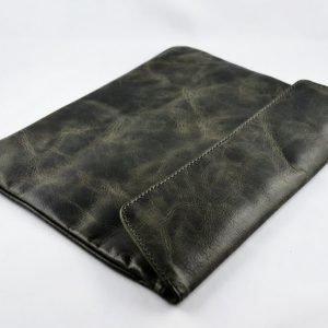 Luxury Bag Tumma Harmaa Tablet Suojapussi Aidosta Nahasta