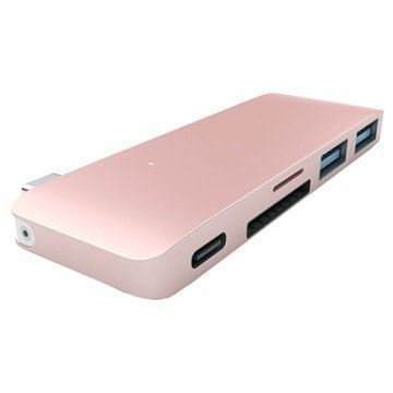 MacBook 12 Satechi Type-C Pass Through USB Hub Rose Gold
