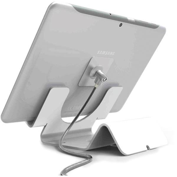 Maclocks Tablet Security Holder pöytäteline tableteille valk