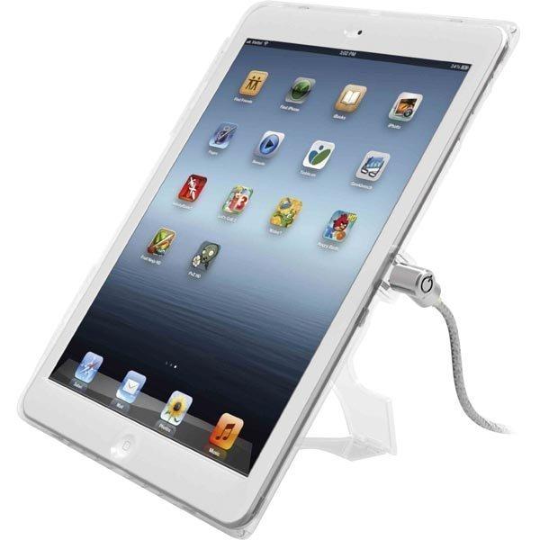 Maclocks lukittava muovikuori iPad Airiin vaijerilukko läpinäkyvä