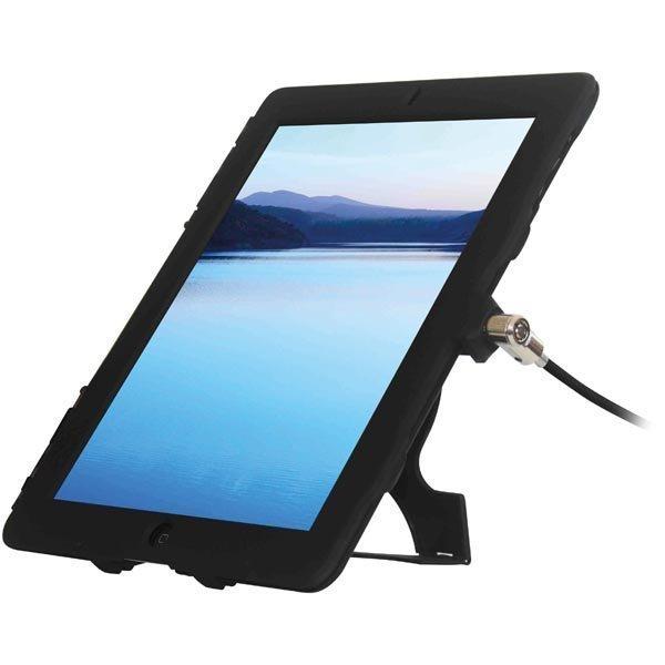 Maclocks lukittava muovikuori iPad Airiin vaijerilukko musta