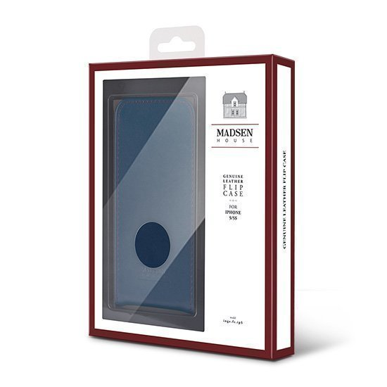 Madsen House Inge Samsung Galaxy S6 Lompakkomallinen suojakotelo aitoa nahkaa + Panssarilasi Punaruskea