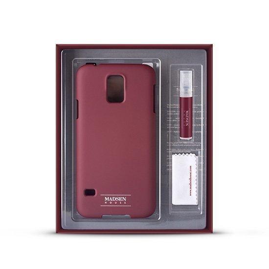 Madsen House Inge iPhone 5 / 5S suojakotelo + suojakalvo Punaruskea