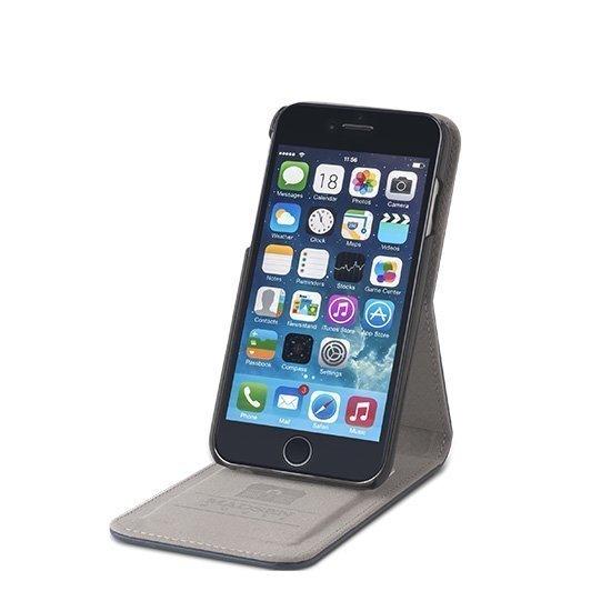 Madsen House Inge iPhone 6 / 6S FlipCase suojakotelo aitoa nahkaa + Panssarilasi Viininpunainen