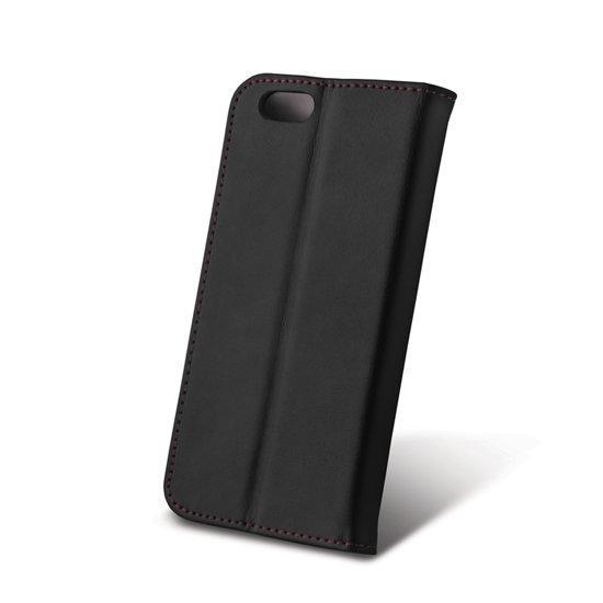 Madsen House Inge iPhone 6 ja 6S Lompakkomallinen suojakotelo aitoa nahkaa + Panssarilasi Musta