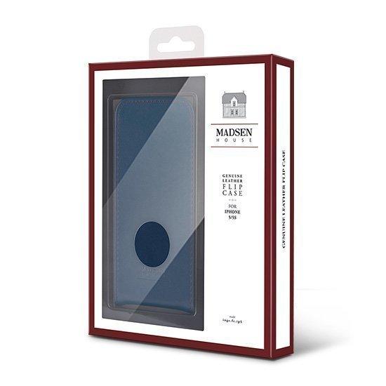 Madsen House Inge iPhone 6 ja 6S Lompakkomallinen suojakotelo aitoa nahkaa + Panssarilasi Punaruskea