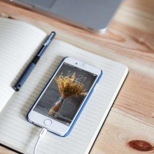 Madsen House iPhone 5 / 6 / 7 / iPad virallinen MFI Lightning USB Kaapeli 1m Valkoinen