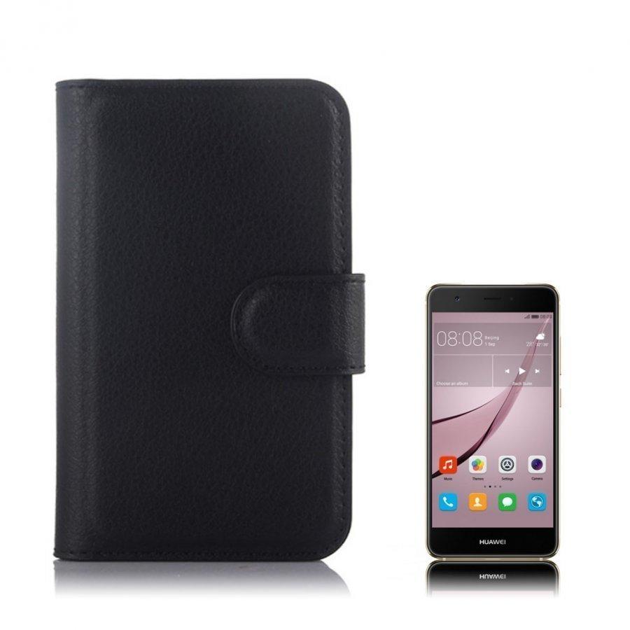 Mankell Alcatel One Touch Pixi 3 3.5 Nahkakotelo Läpällä Musta