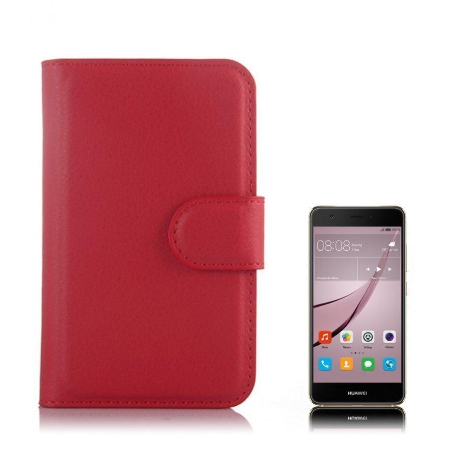 Mankell Alcatel One Touch Pixi 3 3.5 Nahkakotelo Läpällä Punainen
